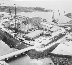 Dodewaard kerncentrale in aanbouw
