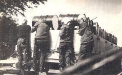 ME-inzet bij de transporten naar Den Helder