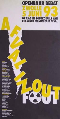 Poster voor debat in Zwolle