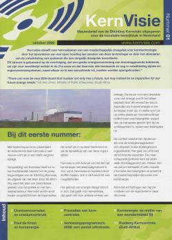 Het eerste gedrukte nummer van 'Kernvisie', oktober 2006