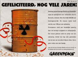Advertentie Greenpeace