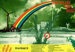 Affiche voor de tweede grote Dodewaard-blokkade